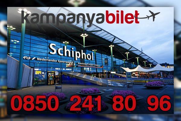 Amsterdam Schiphol Havalimanı Uçak Bileti İletişim Telefonu